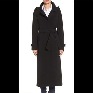 Never worn black Gallery Trench Coat